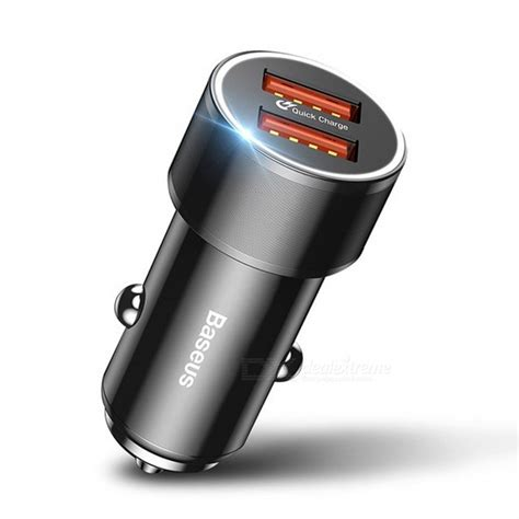 Charger Mobil Baseus Car Charger Dual Usb 3 4a baseus dual usb 36w charge 3 0 car charger mini