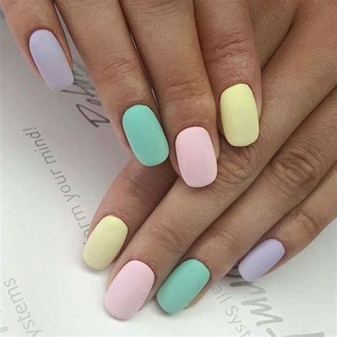 pastel color nails 41 easter nail designs for 2019 stayglam