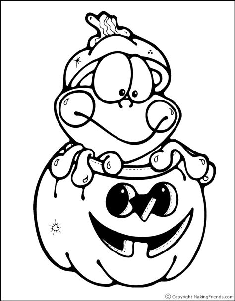 Halloween Frog Coloring Page   halloween frog coloring page