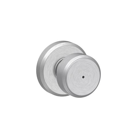 Schlage Bowery Satin Chrome Privacy Bed Bath Door Knob Chrome Bathroom Door Knobs