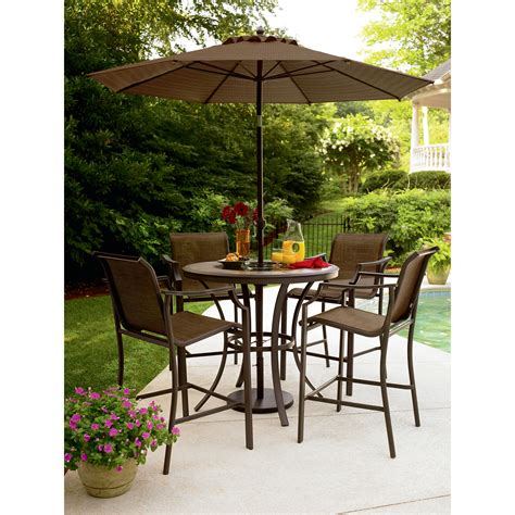 Garden Oasis Cooper Lighted High Dining Table Dining High Patio Dining Set