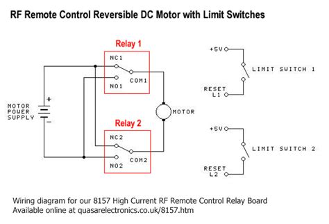 dc motor reversing circuit timer or remote control