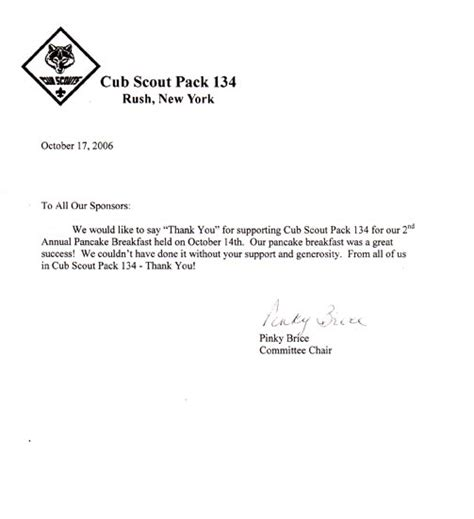 Fundraising Letter For Boy Scouts Community Charity Diamonds Limo