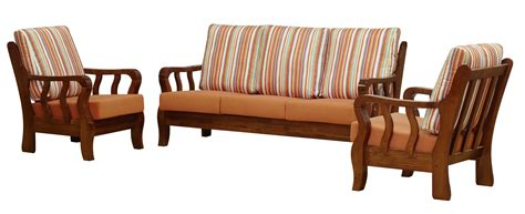 Wicker Settee Set Wooden Sofa Removable And Washable Cushion Furniture