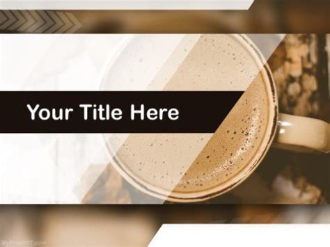 Free Coffee Mug Powerpoint Templates Myfreeppt Com Coffee Powerpoint Template Free