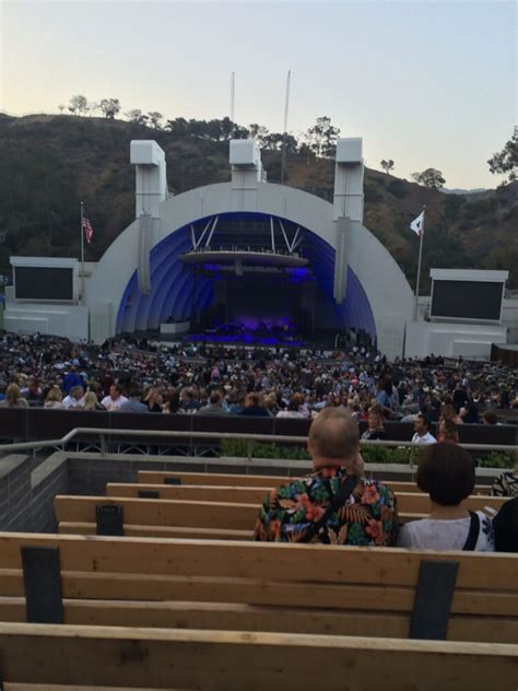 hollywood bowl section g2 our seats in section g2 at the hollywood bowl just before
