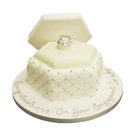 Engagement Wedding Cakes by Engagement Ring Box Cake