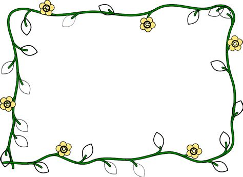 Borders Template by Word Border Templates Clipart Best