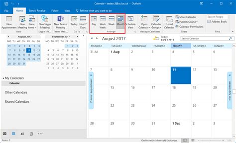 outlook calendar 2016 change the calendar view in outlook 2016 for windows