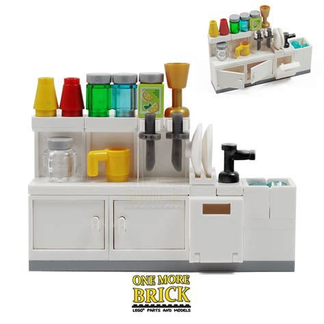 Lego Kitchen | lego kitchen sink cabinets utensils and accessories