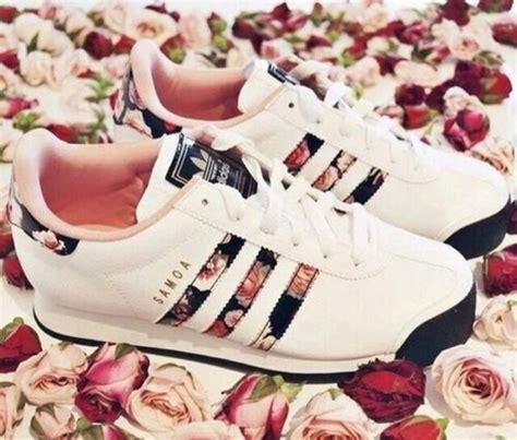 adidas samoa flower print