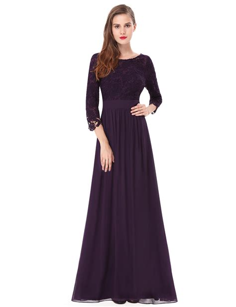 by my michelle lace long gown for prom womens 3 4 sleeves lace bridesmaid dresses evening prom