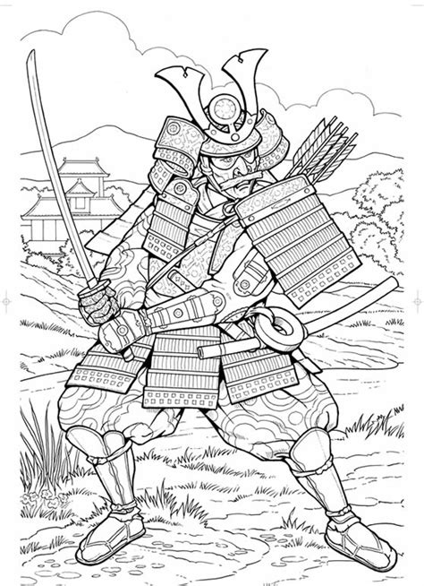 Samurai Coloring Pages inkspired musings japan poems culture paperdolls and