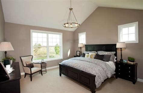 brown and black bedroom furniture home staging living room