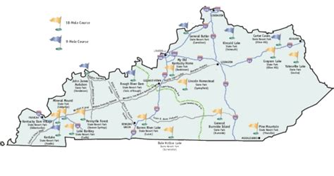 Kentucky State Parks Map by Kentucky State Parks Golf Trail By Brian Weis