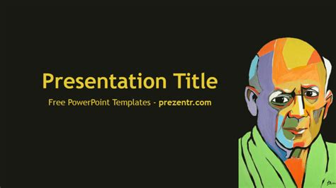 picasso paintings ppt free pablo picasso powerpoint template prezentr