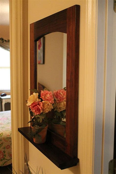 walnut entry hall mirror with shelf 14 best copper pipe project ideas images on pinterest