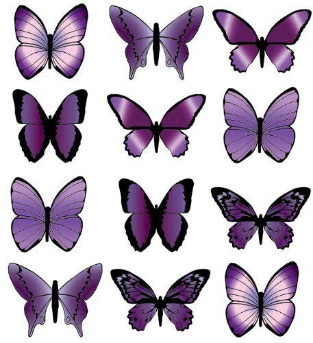 edible tattoo paper pre cut large purple butterfly edible rice wafer paper