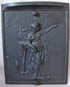 fireplace cast iron back plate 1000 images about cast iron fireplace back plates on