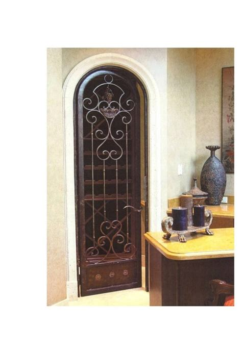Wrought Iron Interior Door Wrought Iron Wine Cellar Arched Door Mediterranean Interior Doors Miami By