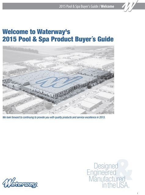 waterway plastics releases 2015 catalog pool spa systems equipment watershapes