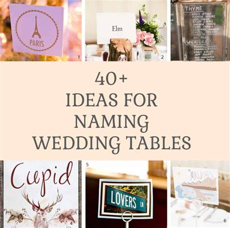 ideas for naming wedding reception tables wedding table names the wedding of my dreamsthe wedding