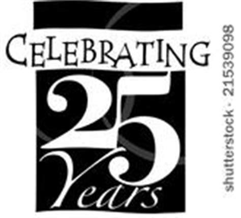 25 silver anniversary clipart