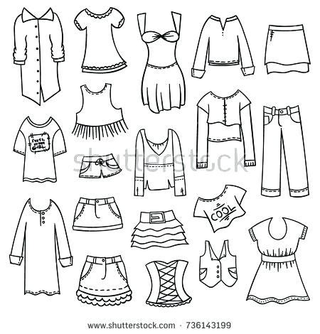 clothes coloring clothing and jewelry coloring pages your