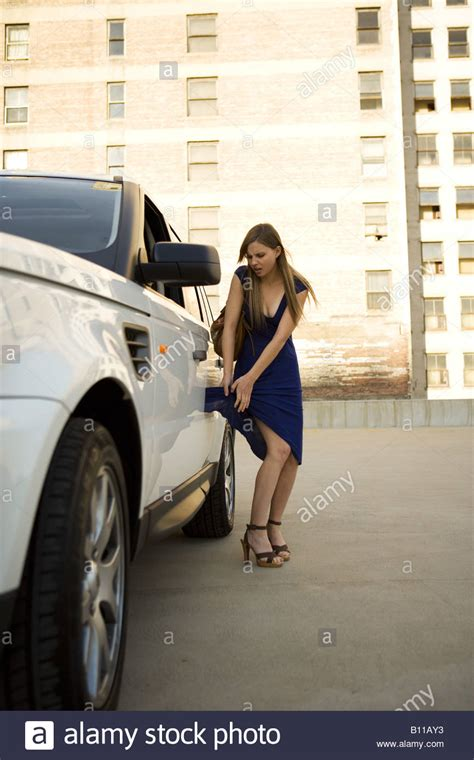 being caught and dressed as a girl as punishment youtube young woman with dress caught in door of white range rover