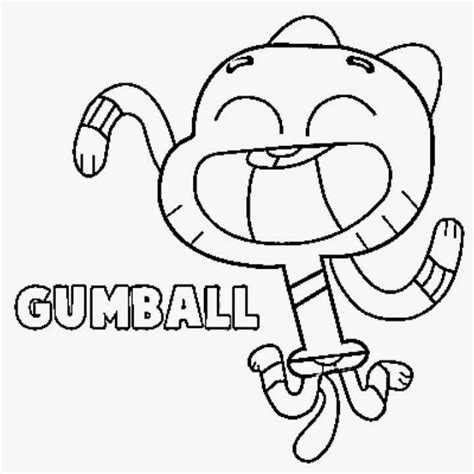 coloring pictures of the amazing world of gumball free coloring pages of world of gumball
