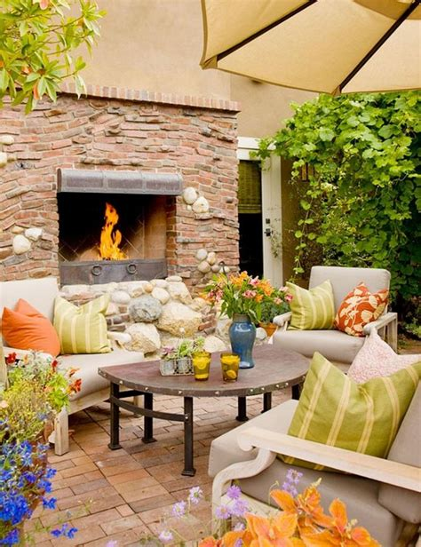 outdoor küche bilder design ideen 15 cozy outdoor designs with fireplace ideal for fall rilane