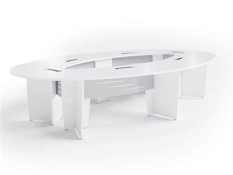 Office Furniture Meeting Table Buronomic Success Meeting Room Elliptical Table In White