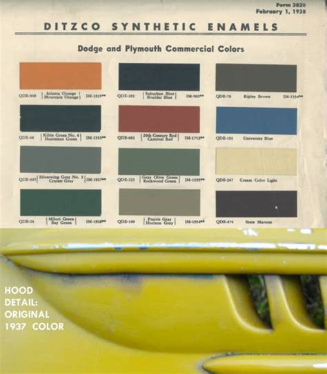 dodge truck paint colors 1937 dodge humpback panel truck a restoration saga