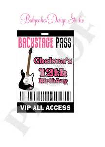 Backstage Pass Template by Rockstarvip Backstage Pass Vip Diy Print Your Own By