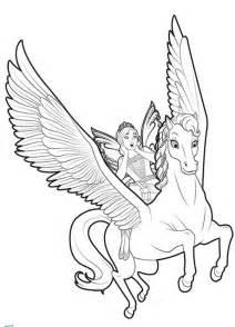 barbie mariposa ride on flutterfield unicorn coloring