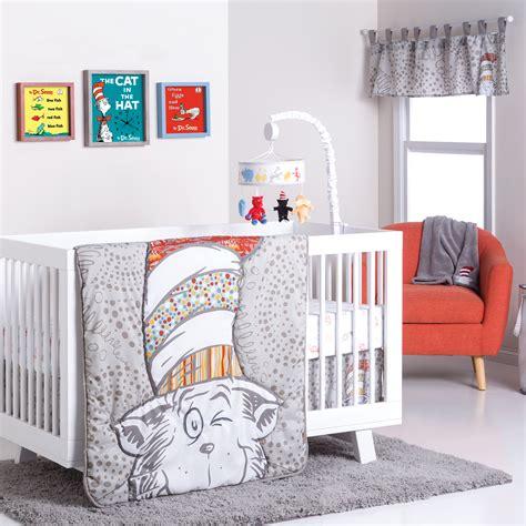 Dr Seuss Crib Bedding Sets Dr Seuss By Trend Lab Dr Seuss Peek A Boo Cat In The Hat 4 Crib Bedding Set Shop Your