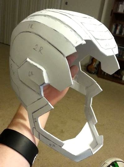 Ironman Helmet Papercraft - iron patriot pepakura helmet wip 2 by acolecovision on