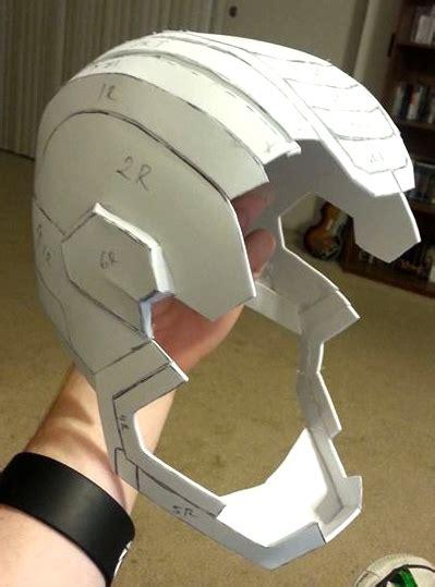 Iron Helmet Papercraft - iron patriot pepakura helmet wip 2 by acolecovision on