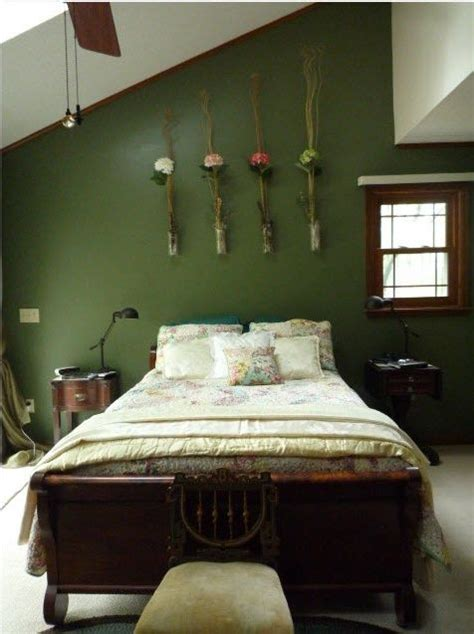 Decorating Ideas For Bedroom With Green Walls 1000 Ideas About Green Walls On Green