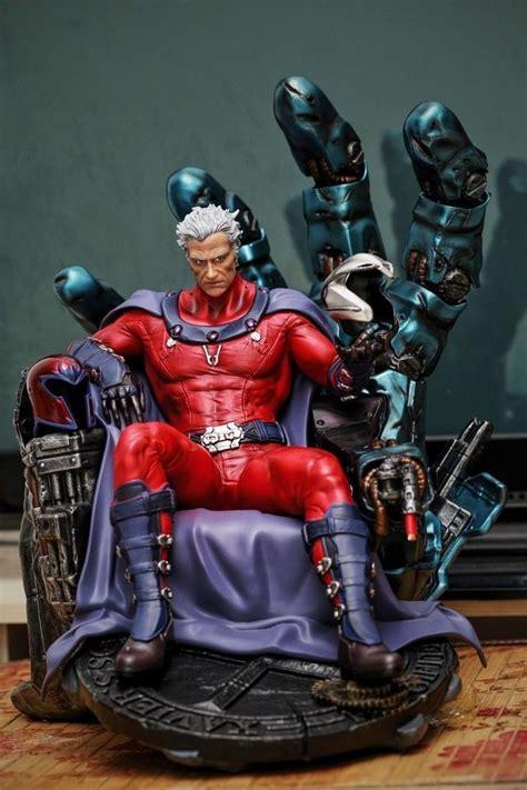 Figure X Xmen Magneto Marvel 1 4 scale x magneto statue recast custom made ebay