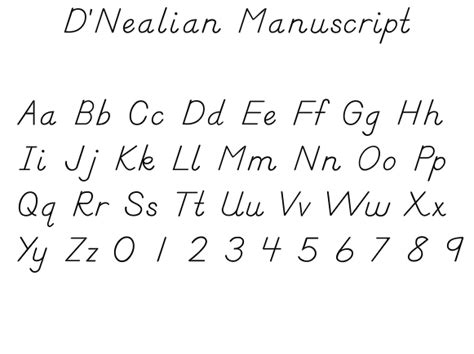 printable handwriting worksheets d nealian d nealian manusript d nealian wikipedia the free