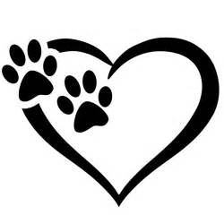 Puppy Wall Stickers heart amp paw vinyl decal top pet gifts