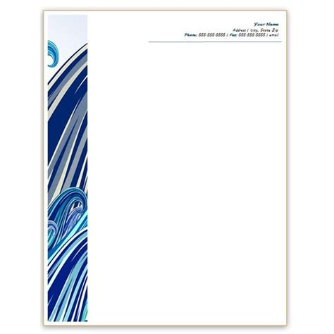 plantilla business letterhead with blue waves six free letterhead templates for microsoft word business