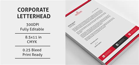 psd corporate letterhead design