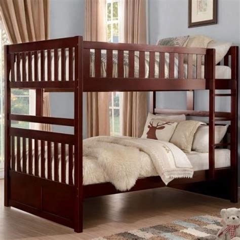bunk bed slats homelegance rowe full over full bunk bed with slats