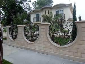 sheet metal fence designs block wall fence pinterest