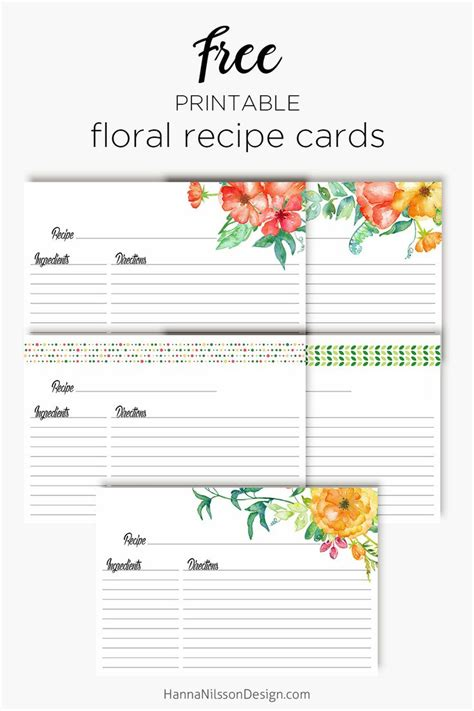 printable recipe planner de 487 b 228 sta printables bilderna p 229 pinterest