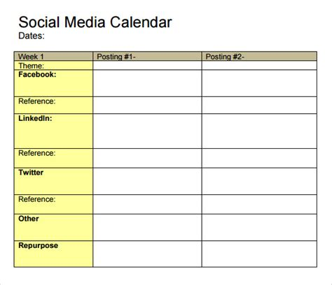 social media calendar template how to build and operate a