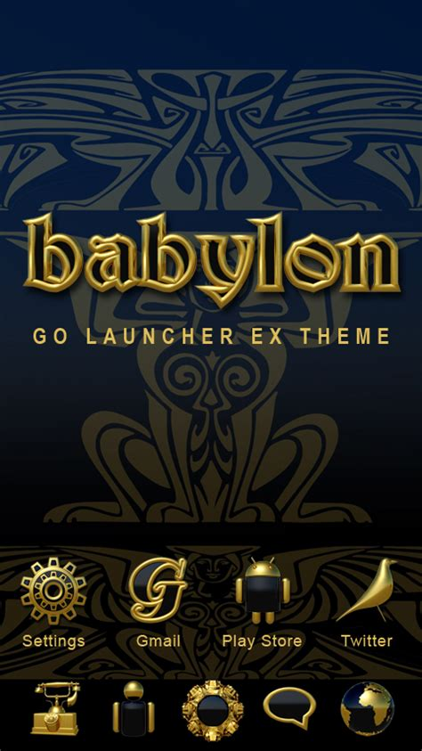 gold go themes babylon go launcher theme gold android apps on google play