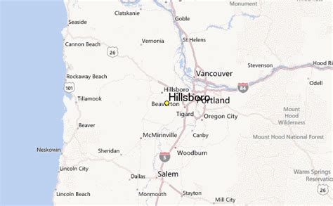 maps hillsboro oregon hillsboro weather station record historical weather for